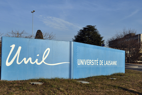 One of the blue UNIL walls